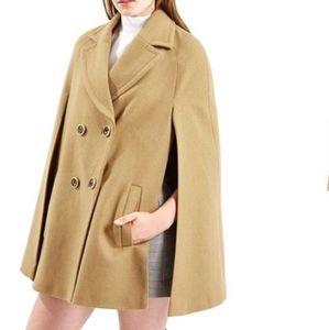 Topshop Wool Cape Jacket L